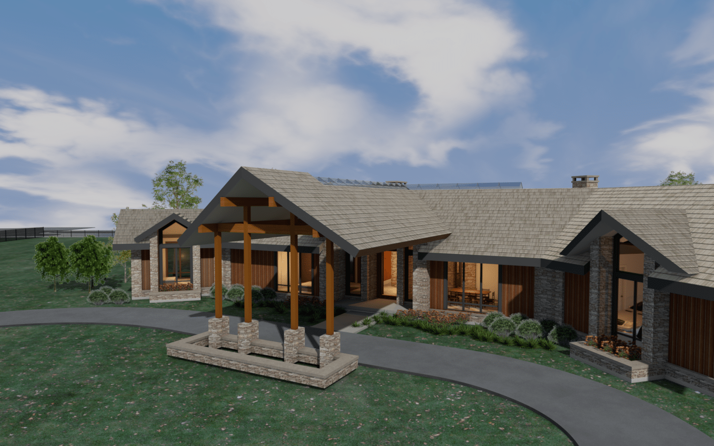 elevated front rendering