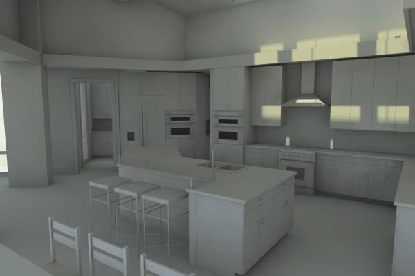 kitchen whiteboard rendering