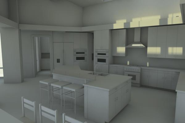 kitchen whiteboard rendering