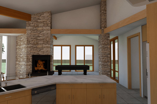 kitchen billiards rendering