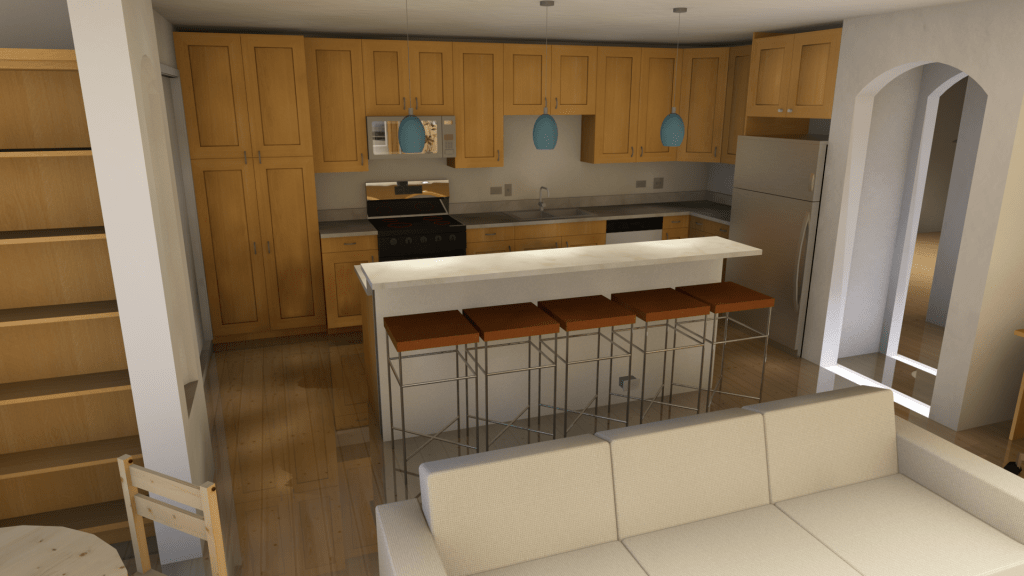 proposed kitchen rendering