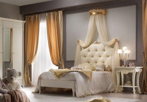 Кровать 100x200 BELLINI с обивкой капитоне лакированная
