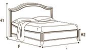Кровать 160х200 GENDARME  без изн.