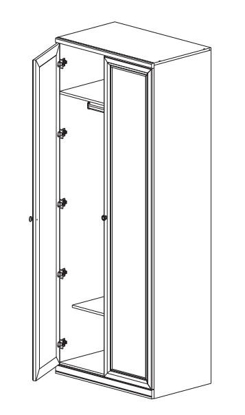 Шкаф 2-х дв. с зеркальными фасадами