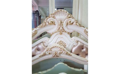 """Спальня """"Опера"""" Белая, эмаль 5 дверная Ткань, велюр 889"""