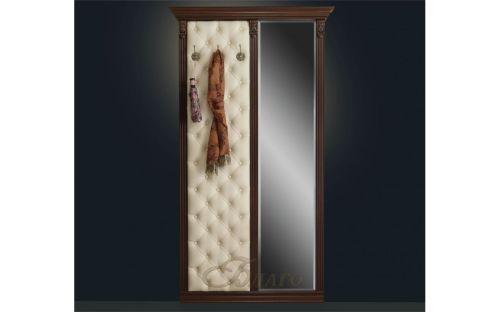 Вешалка с 3 крючками и зеркалом Б5.10-7 Орех