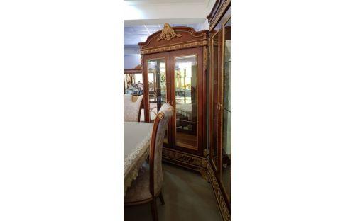 Витрина 2-х дверная, Монарх, орех