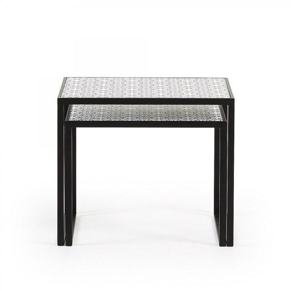 Набор из 2-х кофейных столов LFF- TROPICA (металл черный ...