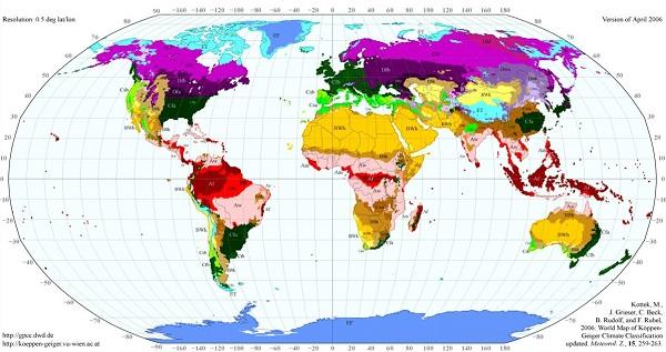 Dünya'da Görülen İklim Türleri ve Özellikleri