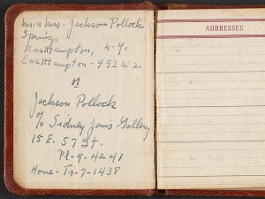 Jackson Pollock and Lee Krasner's address book, circa 1950-1956 (Archives of American Art)