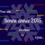 Bonne Année 2015! La recette pour une année réussie.