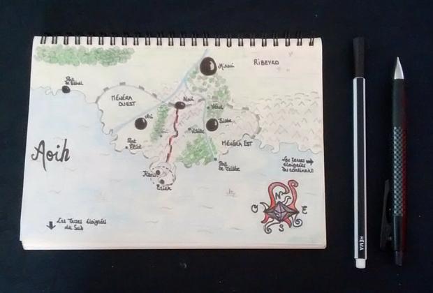 La carte du monde de L'Encre de Paix - Article