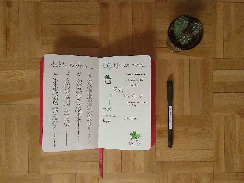 Habits trackers - bullet journal mai 2018 - Mécanismes d'Histoires