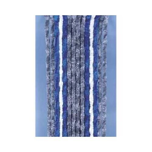 rideau anti insecte chenille 205x56 mm pour camping car gris bleu blanc