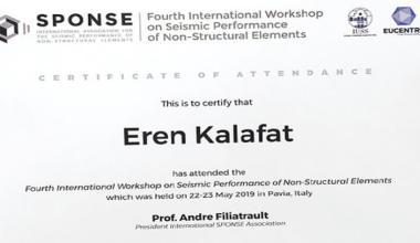 Eren Kalafat 4. Uluslararası SPONSE Konferansı için İtalya'daydı