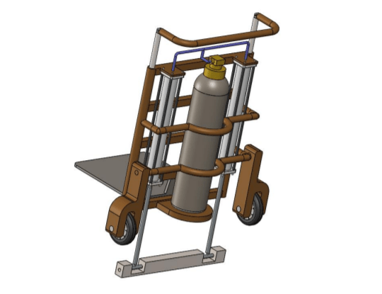 DESIGN AND FABRICATION OF STAIR CLIMBING MECHANISM TO LIFT LOAD OVER STAIRS PROJECT REPORT