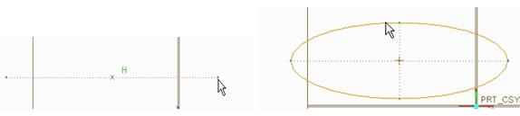 center-axis ellipse in creo elements pro