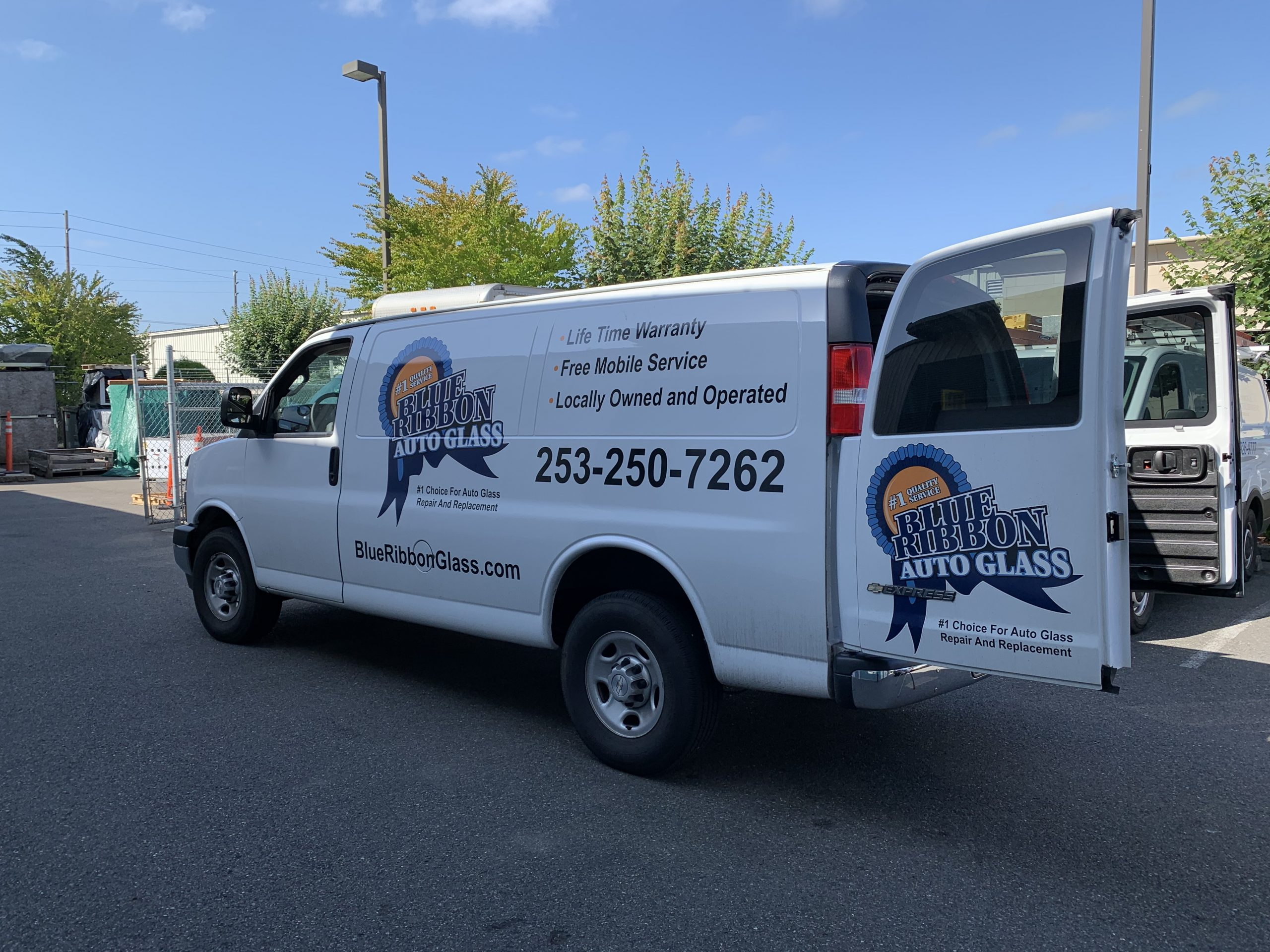 Blue Ribbon Auto Glass Van