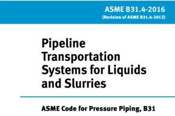 minimum required thickness ASME B31.4-2016 design code
