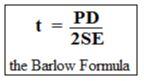 minimum required thickness as per ASME B31.3 and Barlow Formula