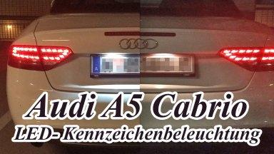 Audi A5 Kennzeichenbeleuchtung