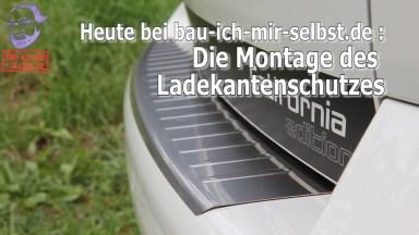 Volkswagen T5 Edelstahl Ladekantenschutz