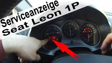 Seat Leon Serviceanzeige