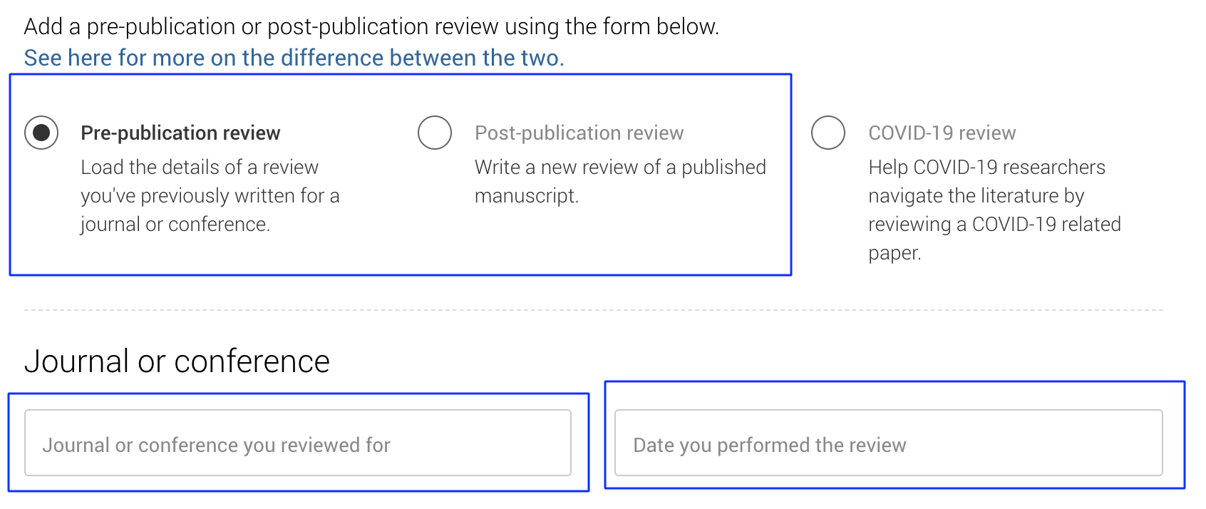 add peer review publons