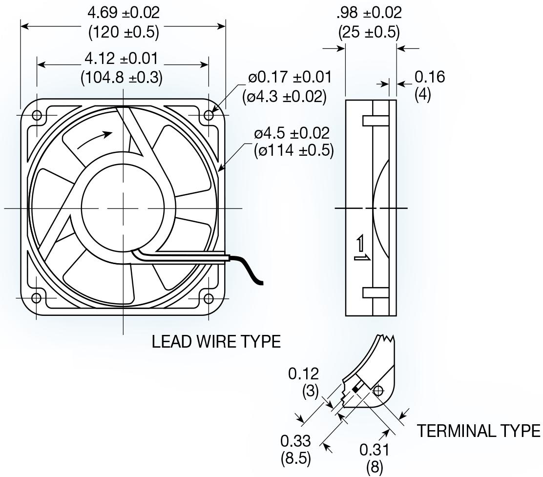 Uf12b Series Ac Axial Fan