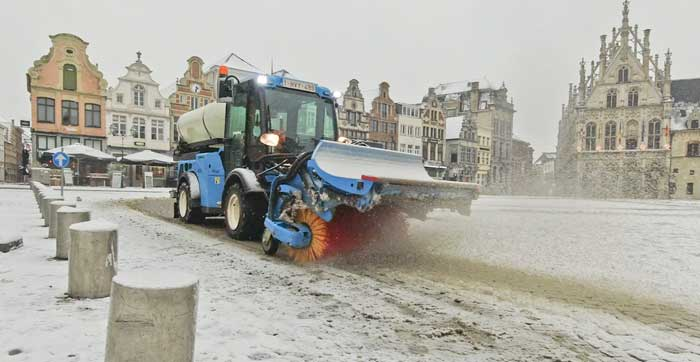 Sneeuwruimen in Mechelen