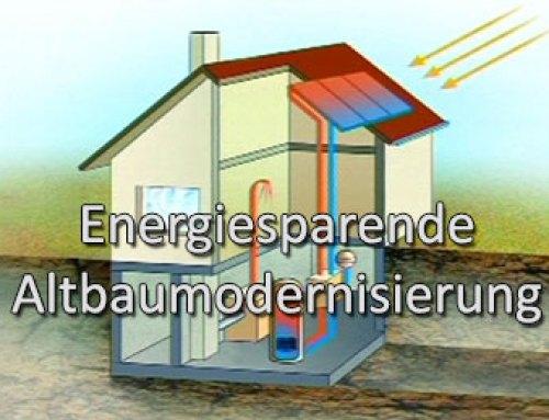Energiesparende Altbaumodernisierung
