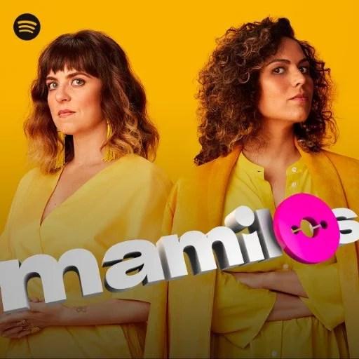 Capa do podcast Mamilos com Juliana Wallauer e Cris Bartis.
