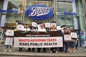 Campaign for boots to pay taxes