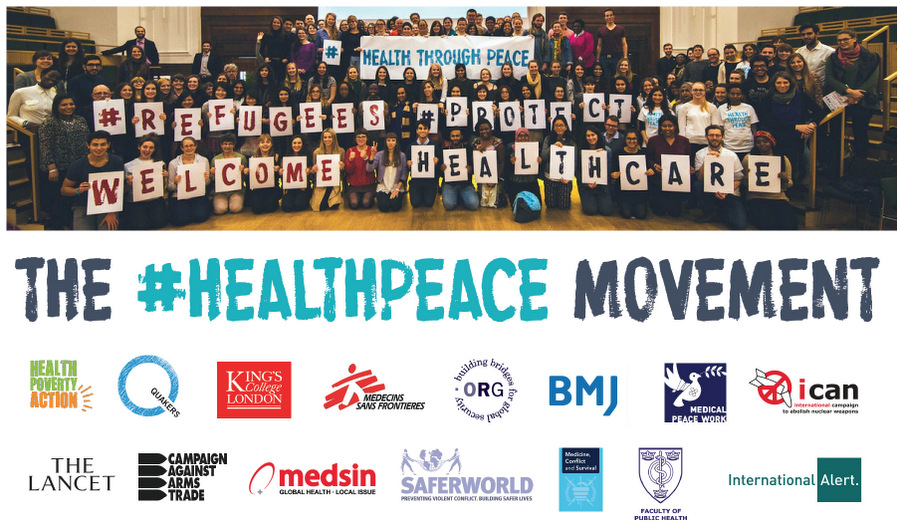 The #HEALTHPEACE Movement (at Health Through Peace 2015, with partner logos)