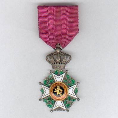 Order of Leopold, civil division, knight (Ordre de Léopold, division civile, chevalier / Orde van Leopold, burgerlijke afdeling, ridder), pre-1951 issue