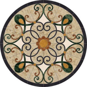 custom floor medallions marble