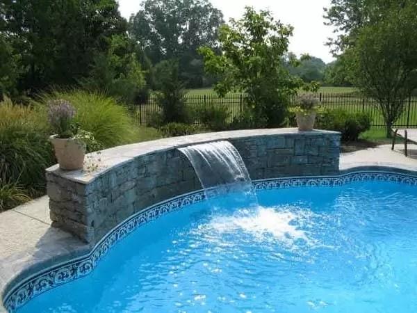 cheap ways to upgrade a pool pool waterfall inground pool renovation ideas
