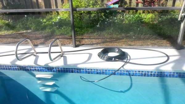 pool care hack heat pool with black hose