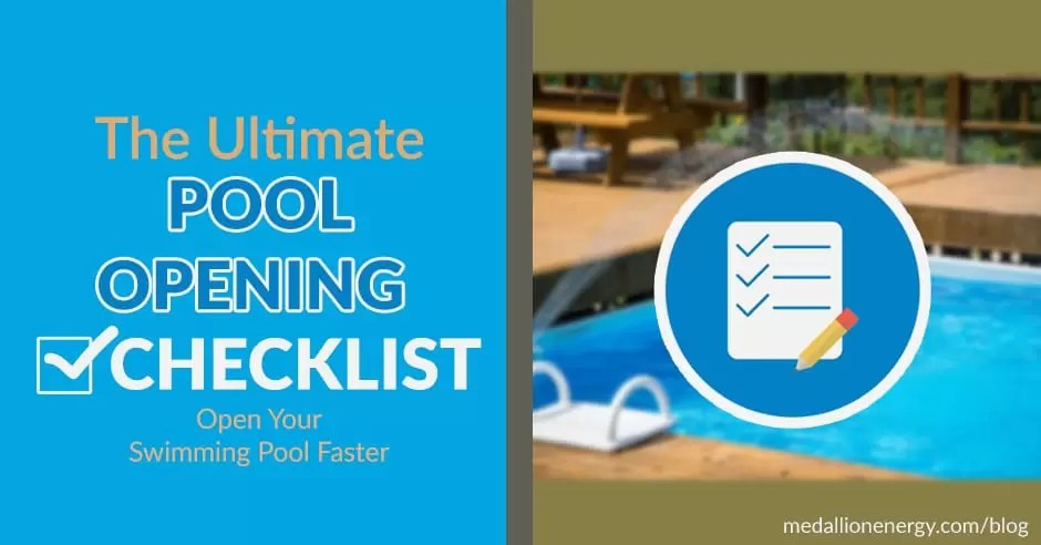 Pool Opening Checklist Open Yourself