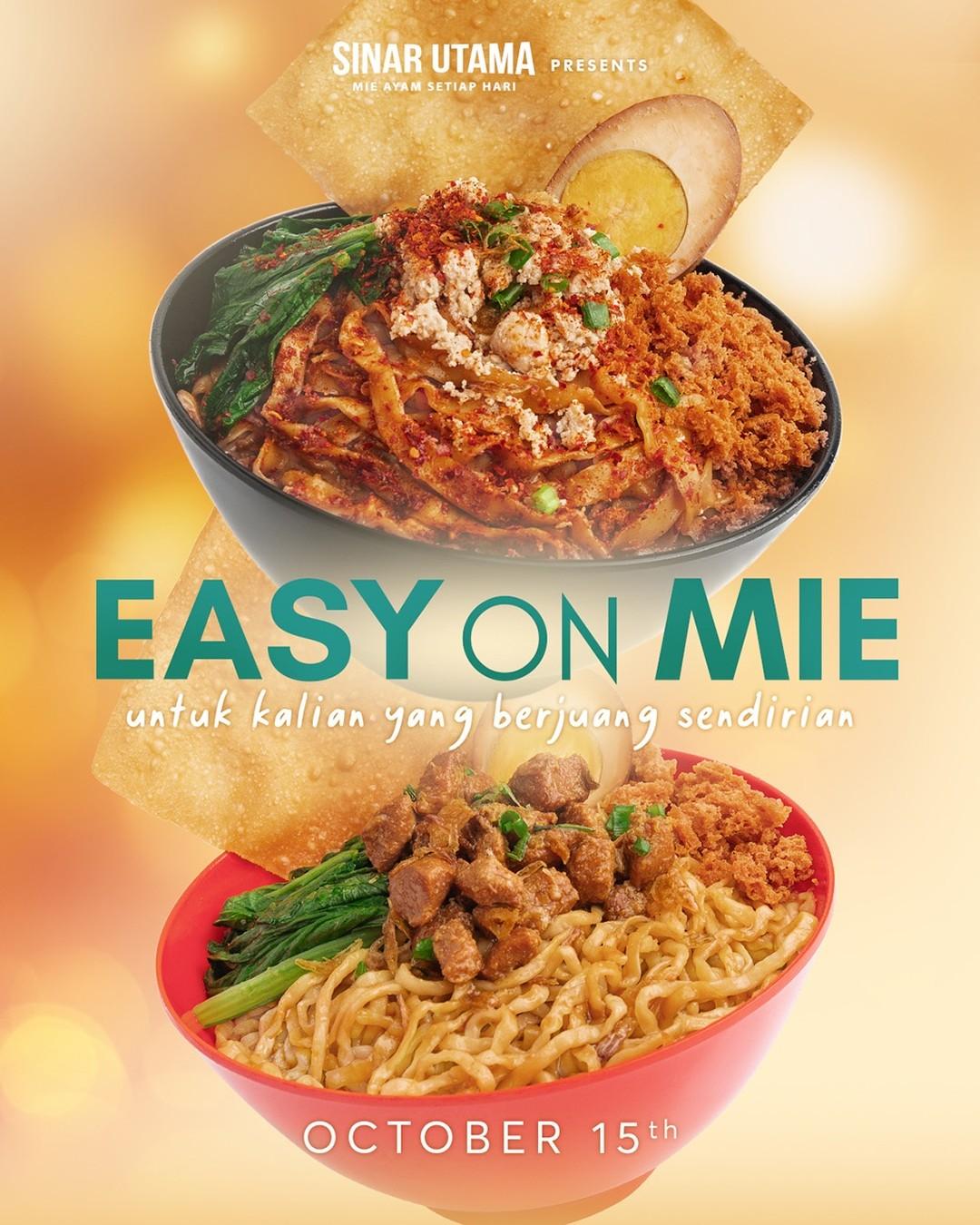 @sinarutama.id presents Easy On Mie Untuk kalian yang berjuang sendirian  Coming soon 15 Oktober 2021 di outlet & aplikasi ojol Sinar Utama Stay tune 🥺️🩹🏼 @sinarutama.id Salam