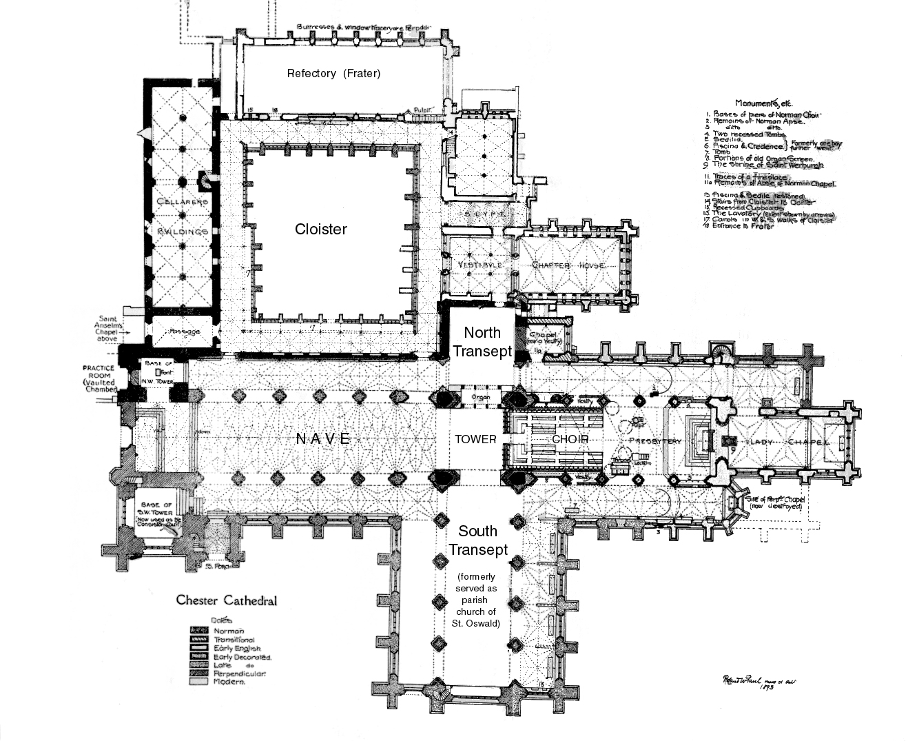 Me Val Chester Abbey Plans