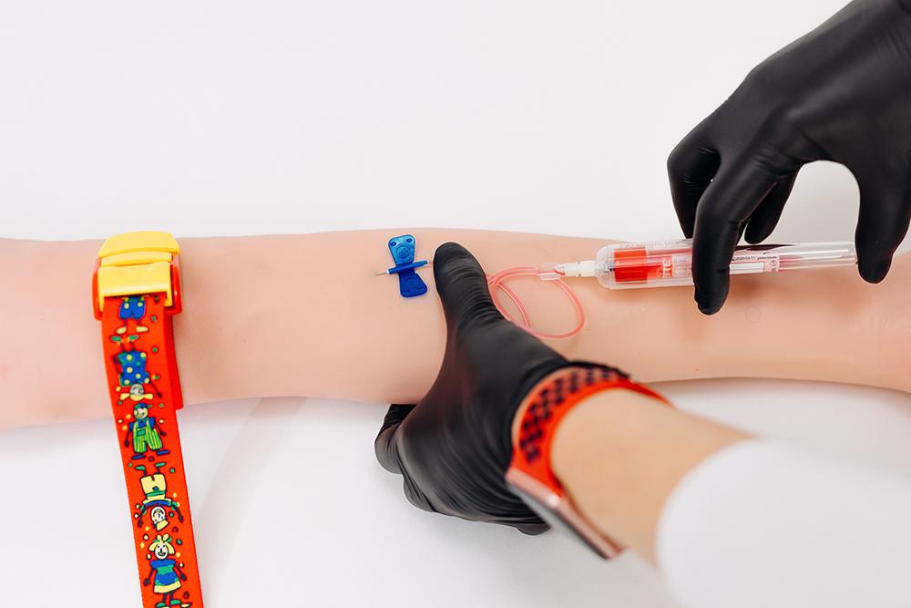 Punctia venoasa - Recoltarea cu microperfuzor si holder