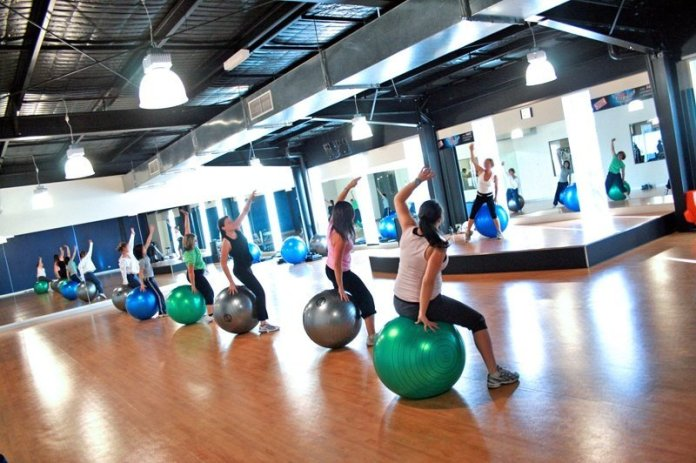 Fitball Group Fitness Class