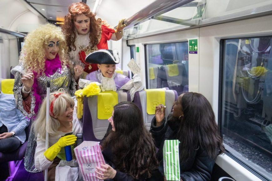 Panto on a train.
