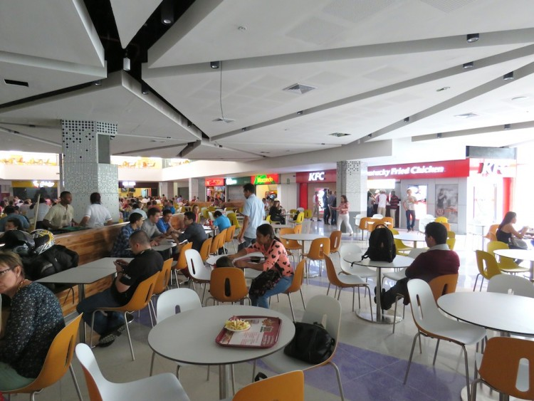The food court in the Mayorca expansion