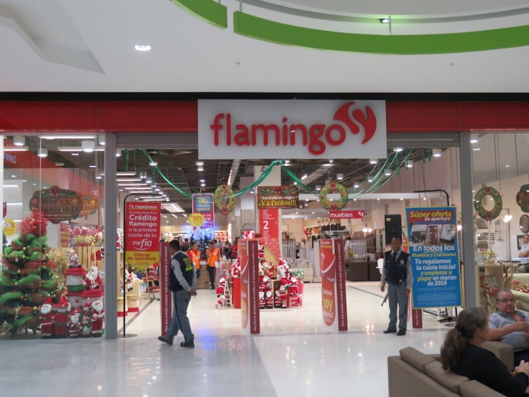 One of the entrances to the Flamingo department store