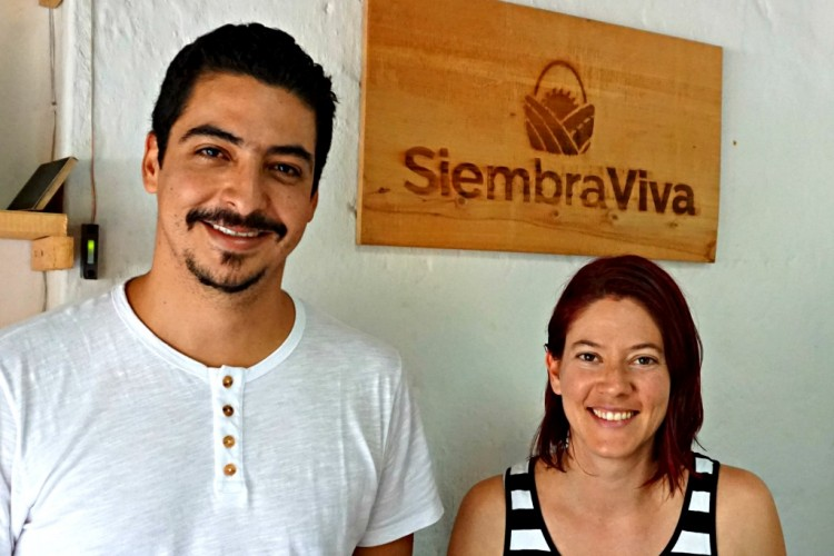 Diego and Ana are the founders of Siembra Viva.