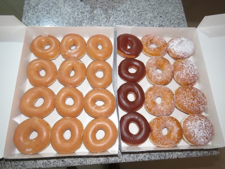 My order of two-dozen fresh donuts