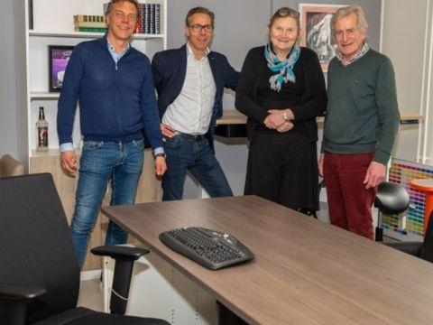 Robert en Johan Blokker en Rutie en Kees Breebaart. ((Foto: Vincent de Vries / Rodi Media))