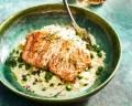 Wat eten wij vandaag: Doperwtenrisotto met gebakken zalm
